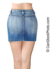 jean azul, minissaia
