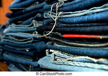 jeans., pilha