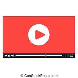jogador, interface, desenho, vídeo