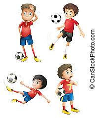 jogadores, equipe futebol