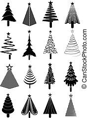 jogo, árvore, natal, ícones