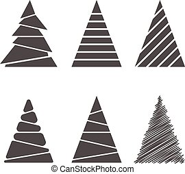 jogo, árvores natal