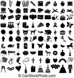 jogo, ícone, 1, 100