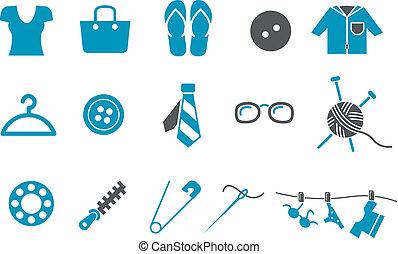 jogo, ícone, roupa