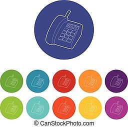 jogo, ícones, cor, apoio, telefone, vetorial