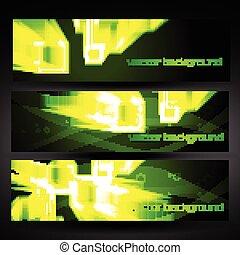 jogo, abstratos, vetorial, verde, 4, bandeira