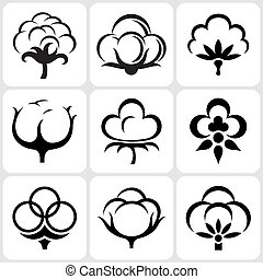 jogo, algodão, ícone