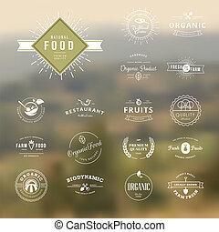 jogo, alimento, natureza, etiquetas