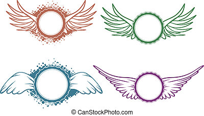 jogo, asas, etiqueta