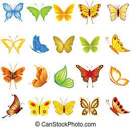 jogo, borboletas