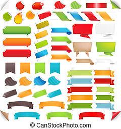 jogo, coloridos, grande, etiquetas, borbulho fala