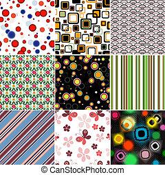 jogo, coloridos, seamless, padrões
