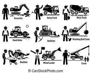 jogo construção, veículos