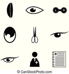 jogo, doutor olho, ícone