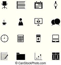 jogo, escritório, ícone