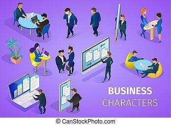 jogo, experiência., roxo, caráteres negócio