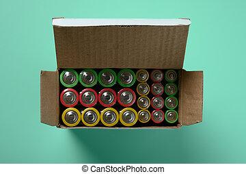 jogo, experiência verde, baterias
