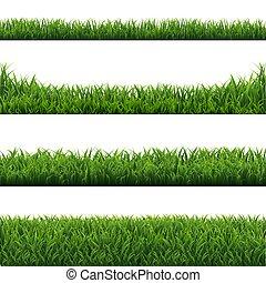 jogo, experiência verde, fronteiras, capim, branca