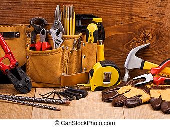 jogo, ferramentas, trabalhando