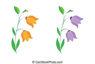 jogo, flor, petals., isolado, fundo, branca, silhuetas
