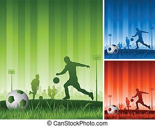 jogo, futebol, fundo