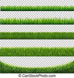 jogo, isolado, experiência verde, branca, capim, borda