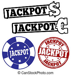 jogo, jackpot, selos