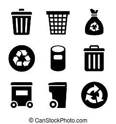 jogo, lixo, ícones