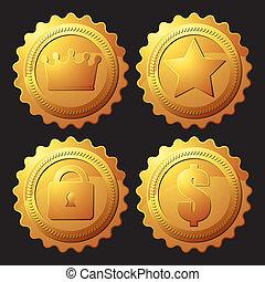 jogo, medalha, ouro