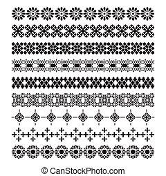 jogo, ornamento, quadro, vetorial, padrão, árabe, escova
