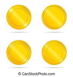 jogo, ouro, ilustração, selos