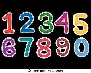 jogo, pretas, número, fundo