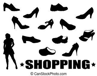 jogo, sapatos