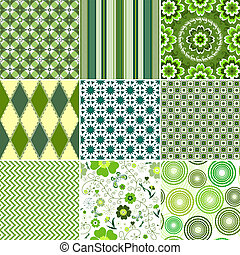 jogo, seamless, verde, padrões