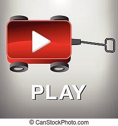 jogo, vagão, -, filme, botão