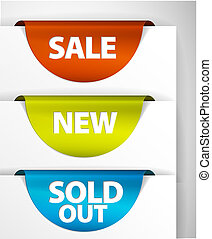 jogo, vendido, venda, /, etiqueta, novo, redondo, saída