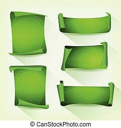 jogo, verde, pergaminho, scroll