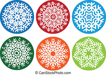 jogo, vetorial, snowflake