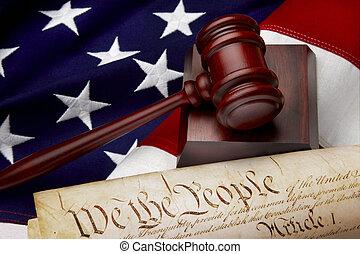 justiça, americano, vida