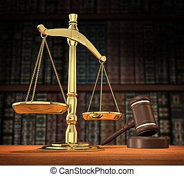 justiça, servido