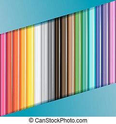 lápis, coloridos, experiência.