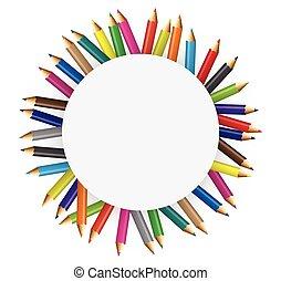 lápis, cor, coleções