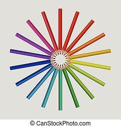 lápis, cor