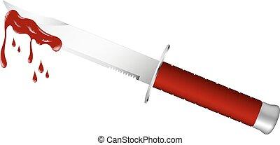 lâmina, faca, sangrento