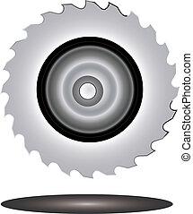 lâmina, serra, circular