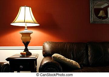 lâmpada, sofá