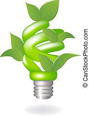 lâmpada, verde