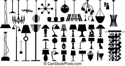 lâmpadas, (vector)