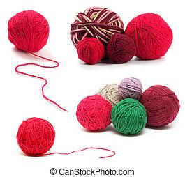 lã, jogo, colorido, clews