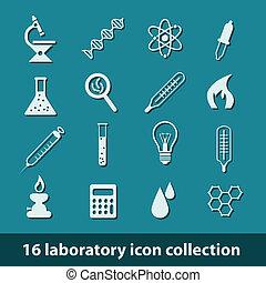 laboratório, ícones
